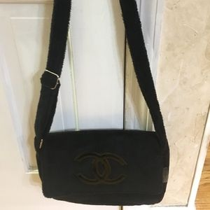 NWT Black Velour CHANEL VIP Crossbody
